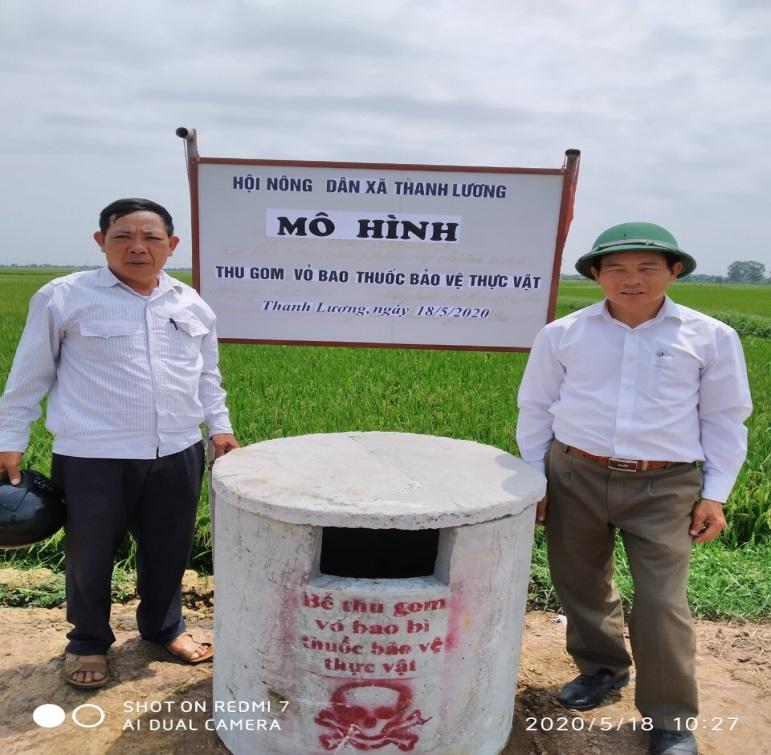 Hội Nông dân xã Thanh Lương, huyện Vĩnh Bảo triển khai xây dựng mô hình thu gom vỏ bao bì thuốc Bảo vệ thực vật sau sử dụng