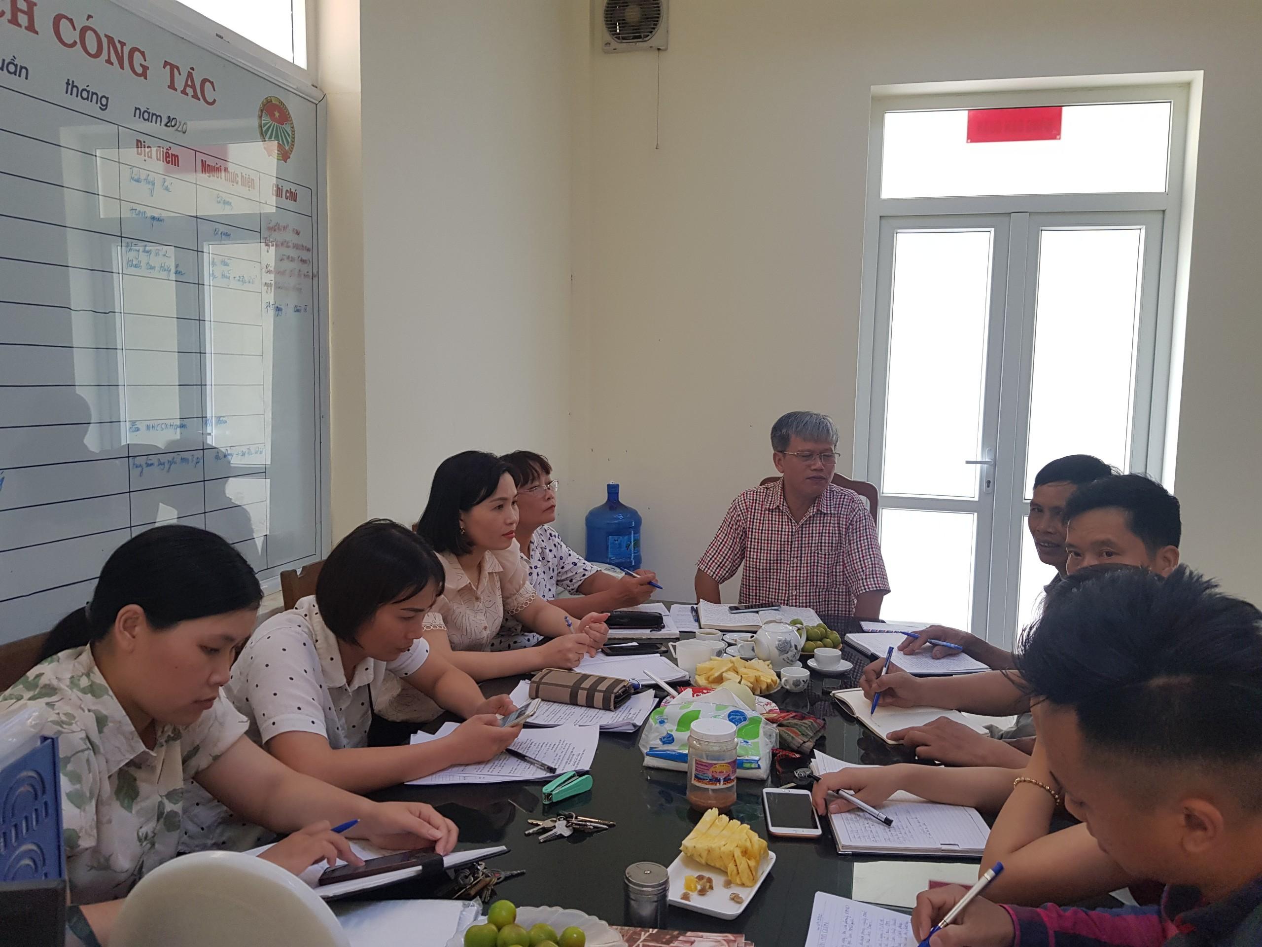 Giao ban công tác Hội và phong trào nông dân tháng 07 năm 2020 quận Kiến An